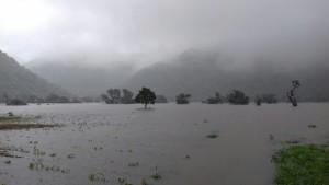 ચોમાસાની ઋતું માં વરસાદી પાણી થી ભરાયેલ કર્માવાદ તળાવનું નયનરમ્ય દ્રશ્ય